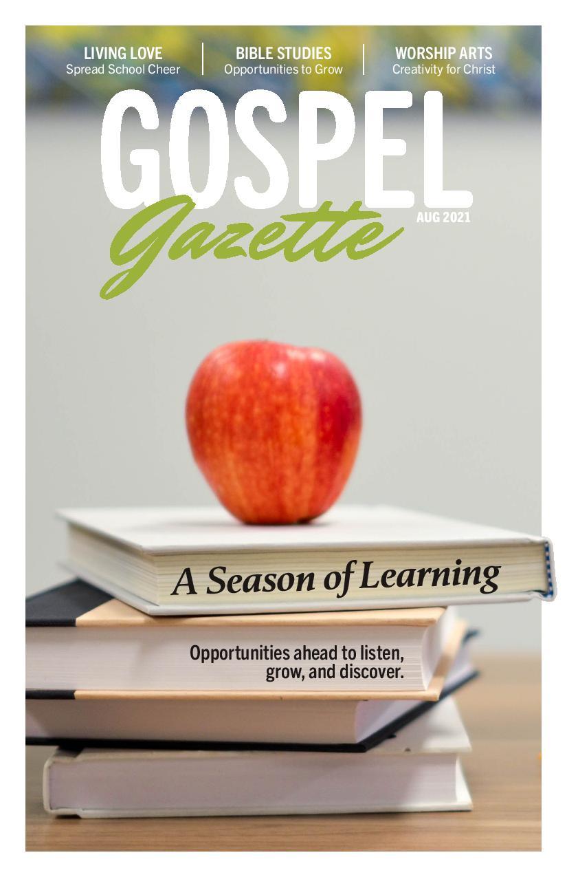 Gospel Gazette: August 2021